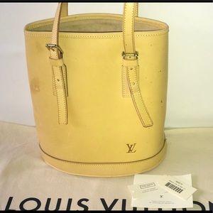 Authentic Louis Vuitton vachetta Marais bucket pm